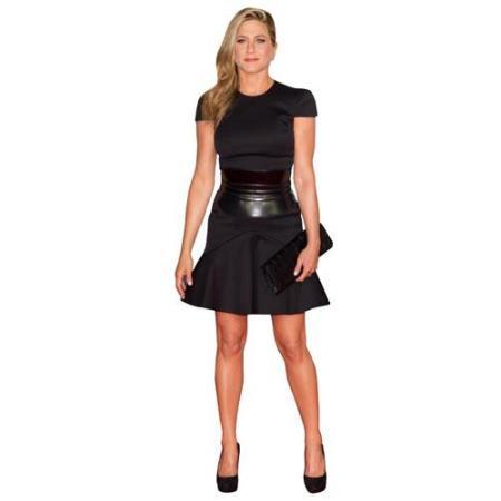 A Lifesize Cardboard Cutout of Jennifer Aniston wearing a black dress