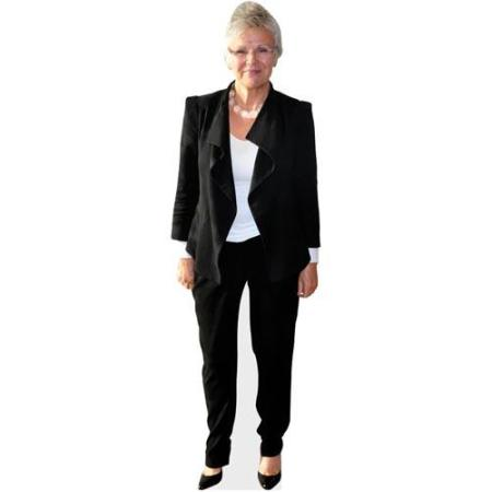 A Lifesize Cardboard Cutout of Julie Walters wearing a trouser suit