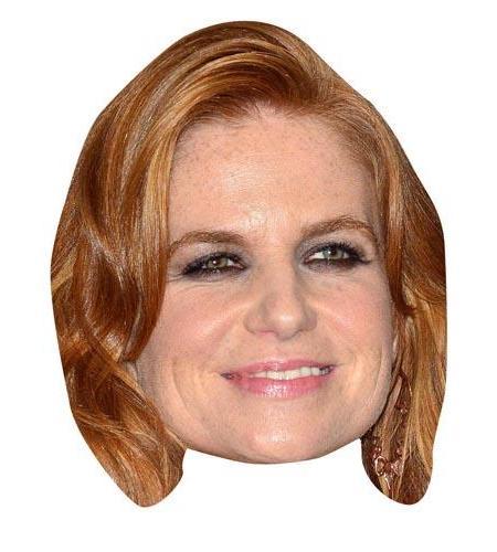 A Cardboard Celebrity Mask of Patsy Palmer