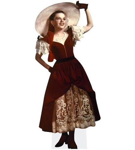 A Lifesize Cardboard Cutout of Judy Garland wearing a bonnet