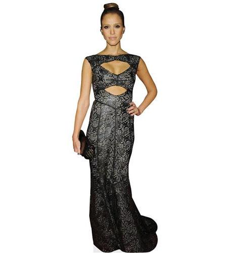 A Lifesize Cardboard Cutout of Jessica Alba wearing a gown