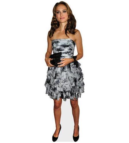 A Lifesize Cardboard Cutout of Natalie Portman wearing a gown