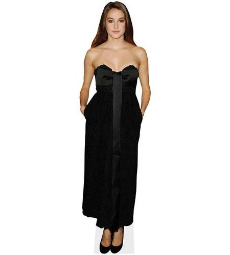 A Lifesize Cardboard Cutout of Shailene Woodley wearing a gown