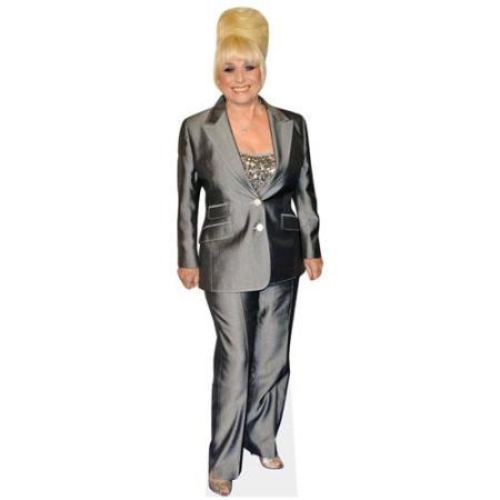 A Lifesize Cardboard Cutout of Barbara Windsor wearing a trouser suit