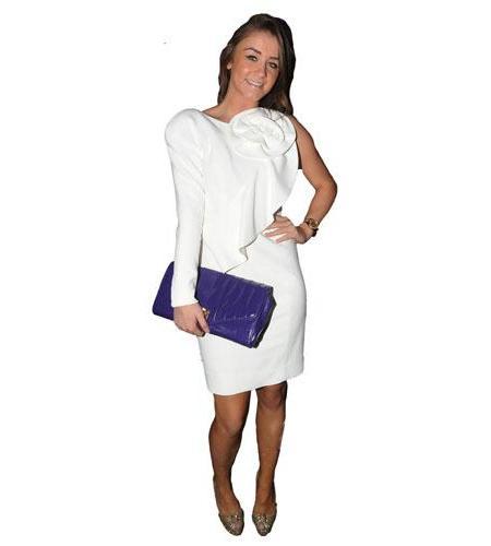A Lifesize Cardboard Cutout of Brooke Vincent wearing white