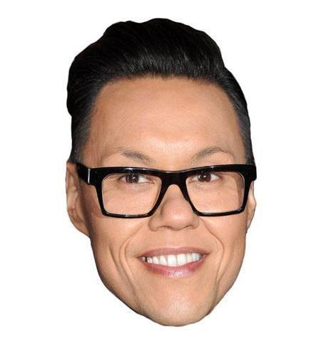 A Cardboard Celebrity Big Head of Gok Wan