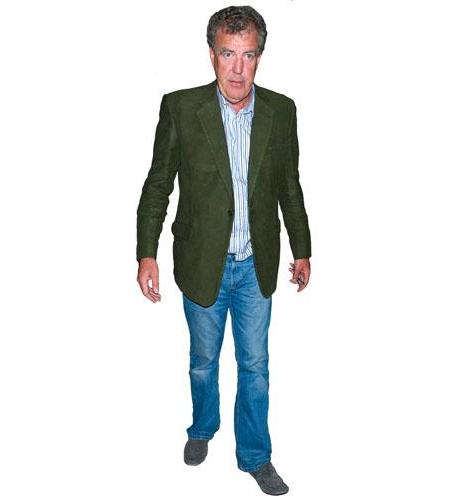 A Lifesize Cardboard Cutout of Jeremy Clarkson wearing jeans