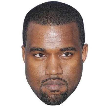A Cardboard Celebrity Kanye West Big Head