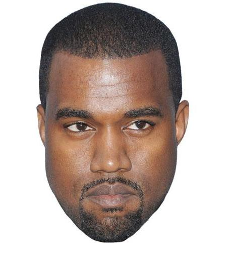A Cardboard Celebrity Kanye West Big Head