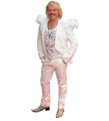 A Lifesize Cardboard Cutout of Keith Lemon with wings