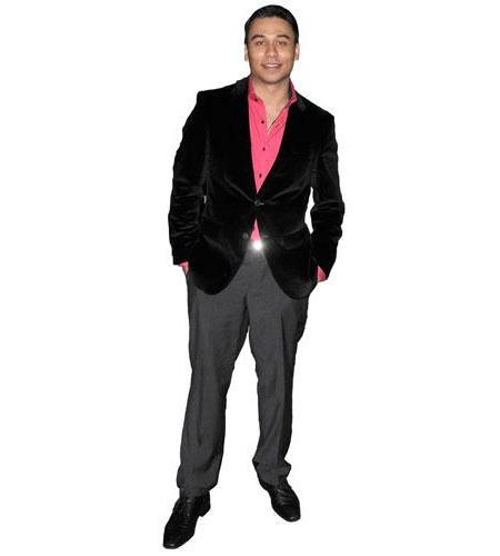 A Lifesize Cardboard Cutout of Ricky Norwood wearing a suit