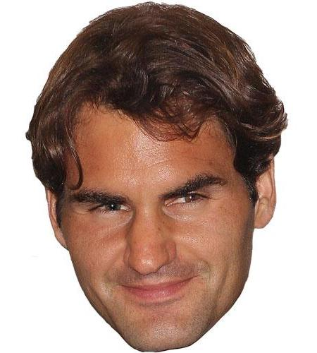 A Cardboard Celebrity Big Head of Roger Federer