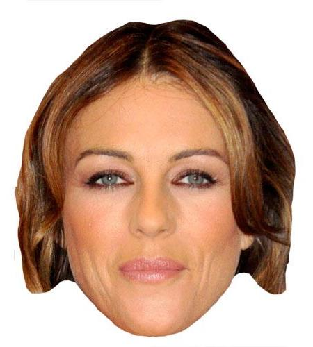 A Cardboard Celebrity Elizabeth Hurley Big Head