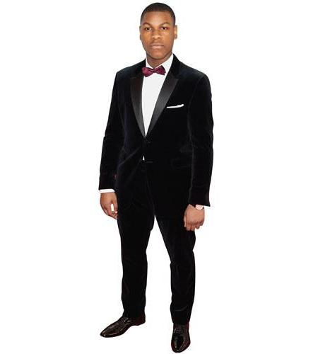 A Lifesize Cardboard Cutout of John Boyega wearing a bow tie