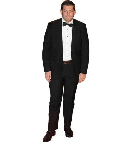 A Lifesize Cardboard Cutout of James Argent wearing a dinner suit