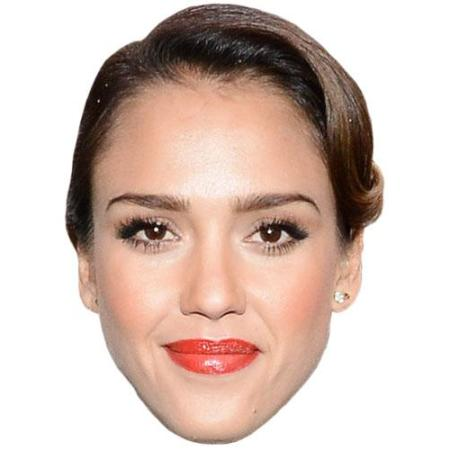 A Cardboard Celebrity Jessica Alba Big Head