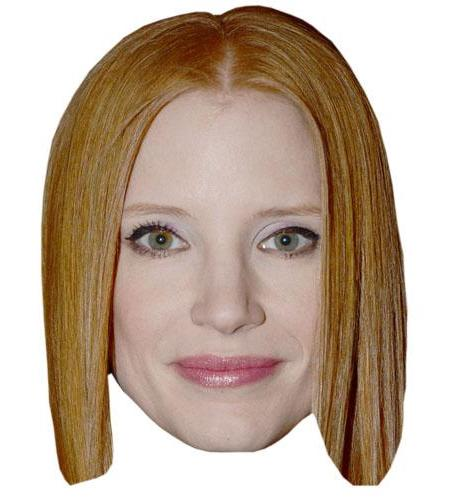 A Cardboard Celebrity Jessica Chastain Big Head