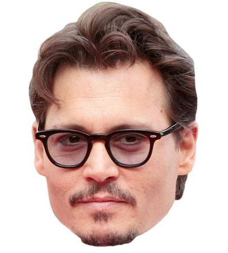A Cardboard Celebrity Big Head of Johnny Depp
