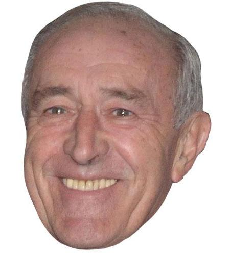 A Cardboard Celebrity Big Head of Len Goodman