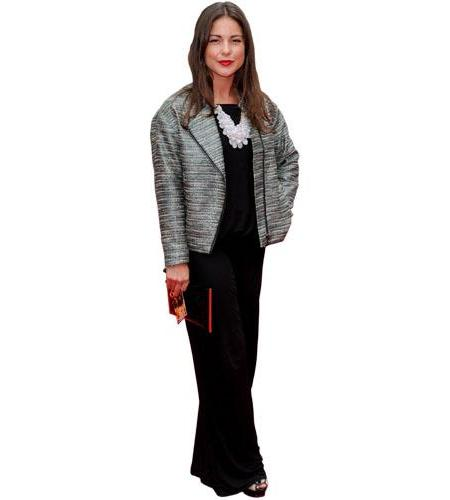A Lifesize Cardboard Cutout of Louise Thompson wearing a dress