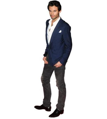 A Lifesize Cardboard Cutout of Mark Francis-Vandelli wearing a suit