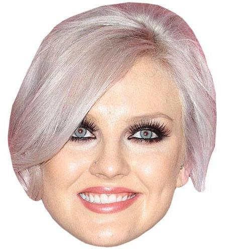 A Cardboard Celebrity Mask of Leigh-Perrie Edwards