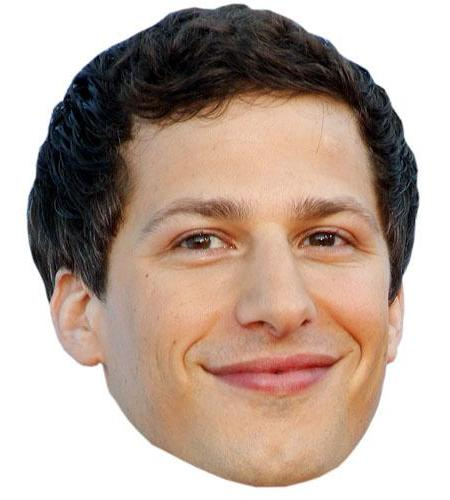 A Cardboard Celebrity Big Head of Andy Samberg