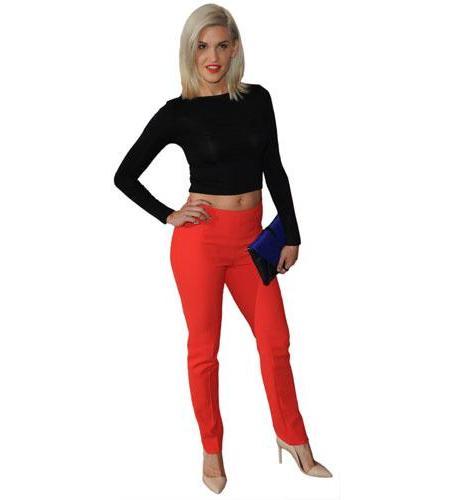 A Lifesize Cardboard Cutout of Ashley Roberts wearing trousers