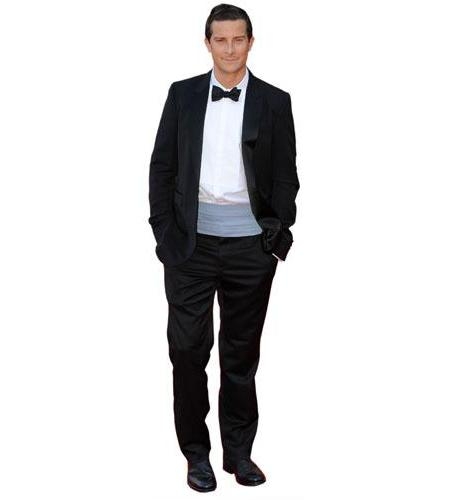 A Lifesize Cardboard Cutout of Bear Grylls wearing a dinner suit