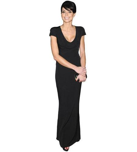A Lifesize Cardboard Cutout of Christine Bleakley wearing a dress