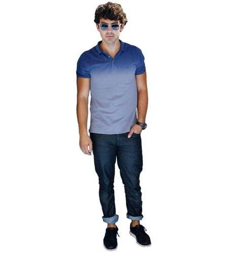 A Lifesize Cardboard Cutout of Joe Jonas wearing shades
