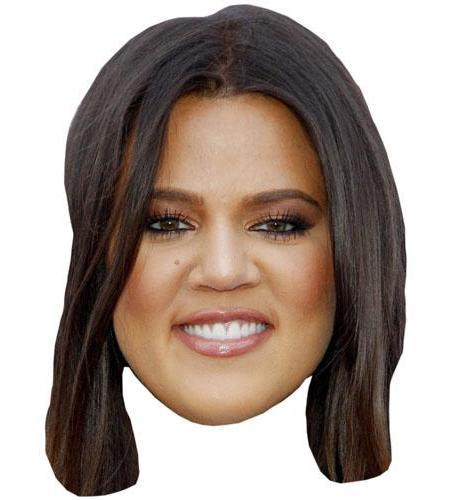 A Cardboard Celebrity Khloe Kardashian Big Head