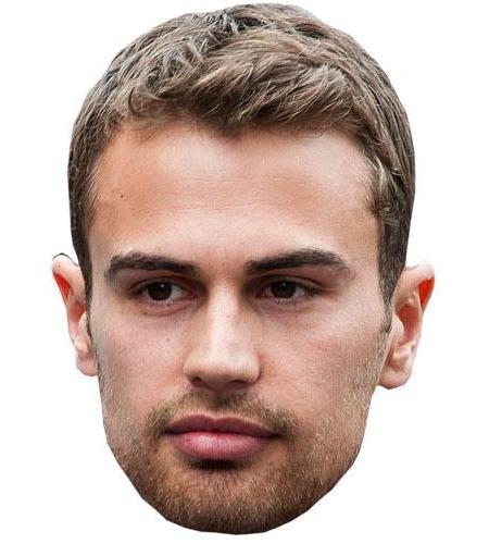A Cardboard Celebrity Big Head of Theo James
