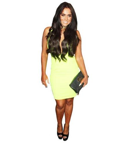 A Lifesize Cardboard Cutout of Vicky Pattison wearing a dress