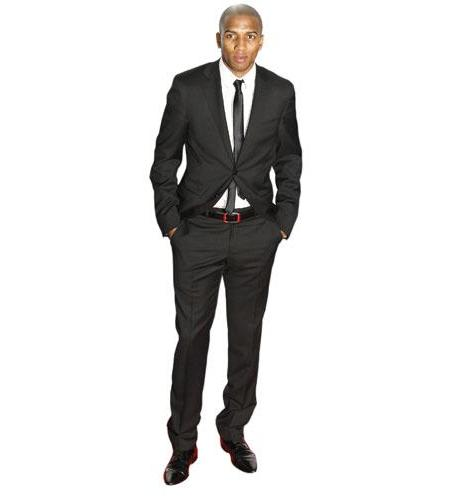 A Lifesize Cardboard Cutout of Ashley Young wearing a suit