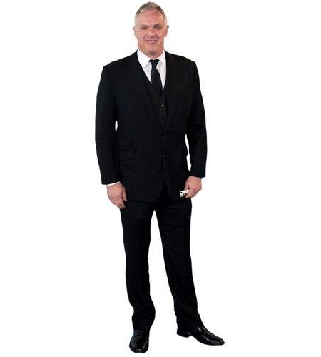 A Lifesize Cardboard Cutout of Greg Davies wearing a suit