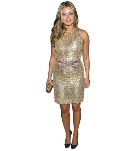 A Lifesize Cardboard Cutout of Holly Valance wearing a dress