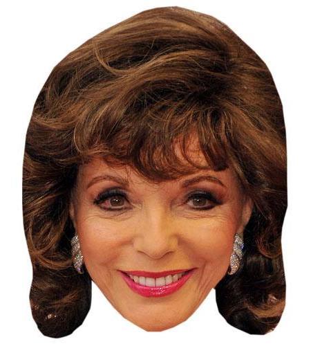 A Cardboard Celebrity Mask of Joan Collins