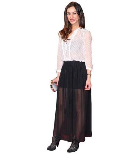 A Lifesize Cardboard Cutout of Lindsay Armaou wearing a skirt