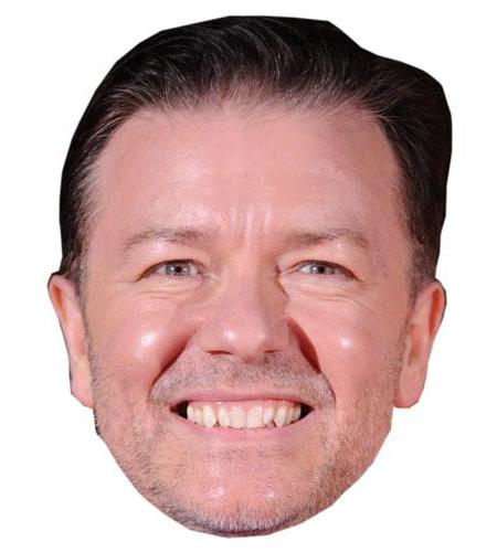 A Cardboard Celebrity Big Head of Ricky Gervais