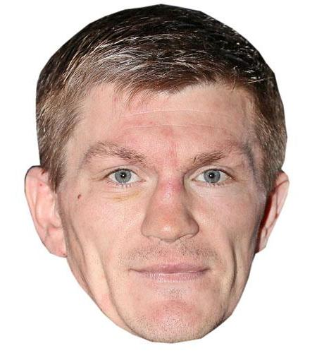 A Cardboard Celebrity Big Head of Ricky Hatton