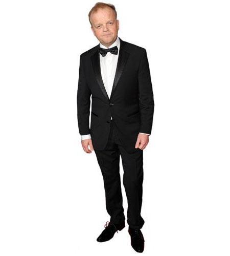 A Lifesize Cardboard Cutout of Toby Jones wearing a dinner suit
