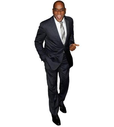 A Lifesize Cardboard Cutout of Ainsley Harriott wearing a suit