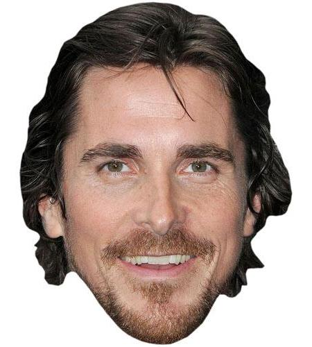 A Cardboard Celebrity Big Head of Christian Bale