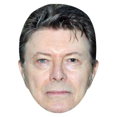 A Cardboard Celebrity Big Head of David Bowie