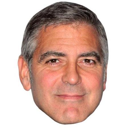 A Cardboard Celebrity Big Head of George Clooney