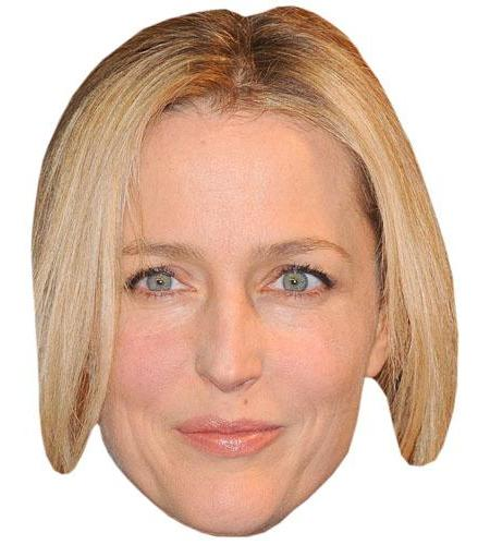 A Cardboard Celebrity Big Head of Gillian Anderson