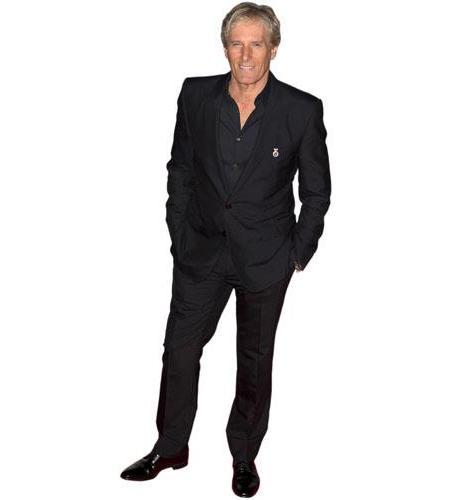 A Lifesize Cardboard Cutout of Michael Bolton wearing a suit