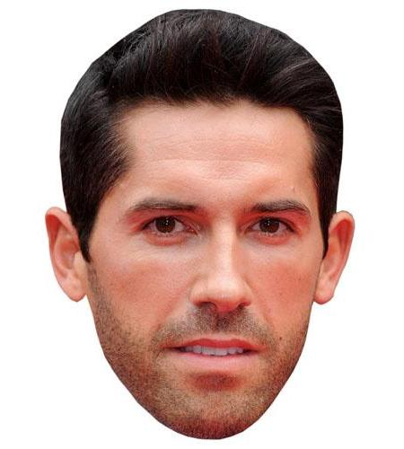 A Cardboard Celebrity Big Head of Scott Adkins