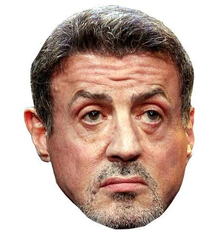 A Cardboard Celebrity Big Head of Sylvester Stallone